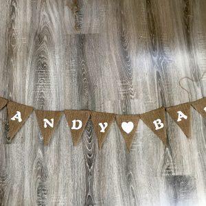 Girlande – Candybar – Leinen