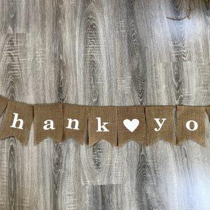 Girlande – Thank you – Danke – Leinen