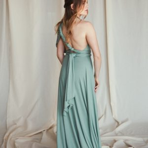 Multi Wrap Dress – Wickelkleid – Brautjungfern Kleid (Mint)