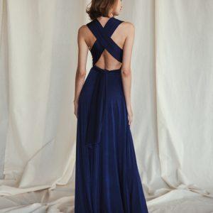 Multi Wrap Dress – Wickelkleid – Brautjungfern Kleid (Marine)