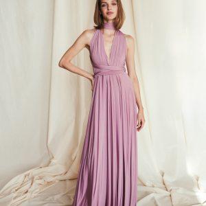 Multi Wrap Dress – Wickelkleid – Brautjungfern Kleid (Altrosa)