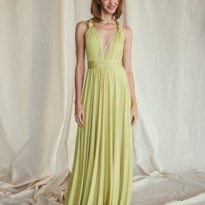 Multi Wrap Dress – Wickelkleid – Brautjungfern Kleid (Limette)