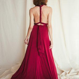 Multi Wrap Dress – Wickelkleid – Brautjungfern Kleid (Bordeaux)