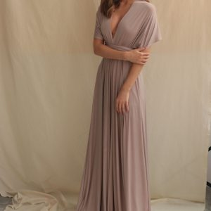 Multi Wrap Dress – Wickelkleid – Brautjungfern Kleid (Dunkelrosa)