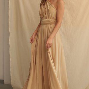 Multi Wrap Dress – Wickelkleid – Brautjungfern Kleid (Gold)