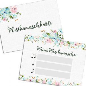 Musikwunschfrage – Hochzeit (50 Stück)