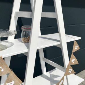 Candybar- Leiterregal – Vintage – Weiß