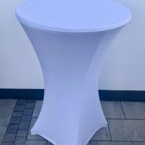 Stehtischhusse – Stretch – Elegant – Weiß