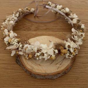 Haarkranz Trockenblumen NATURAL