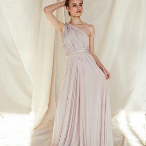 Multi Wrap Dress – Wickelkleid – Brautjungfern Kleid (Beige)