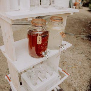 Limonadenbar – Vintage Leiterwagen – weiß