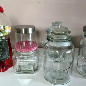 Candybar – Zubehör-Set – sieben Gläser/Zangen/Etageren