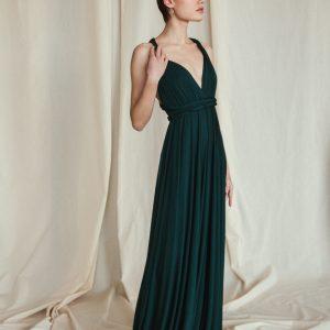 Multi Wrap Dress – Wickelkleid – Brautjungfern Kleid (Grün)