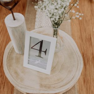 Tischnummern Set – Dekoaufbau