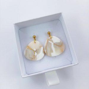 Ohrringe Braut – Große Kieselsteine – Brautschmuck – Ohrschmuck