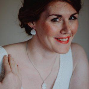 Ohrringe Braut – Kleine Kieselsteine silber – Brautschmuck – Ohrschmuck