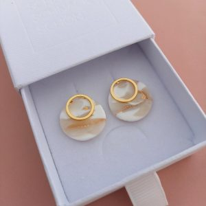 Ohrringe Braut – Doppelring – Brautschmuck – Ohrschmuck