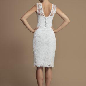 Standesamtkleid – Spitzenkleid – Kurz – Weiß (Ivory)