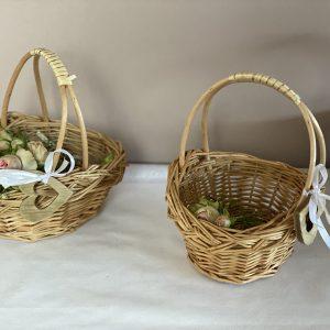 Füllkörbchen – Blumenkinder – Streukörbchen – Naturweiß