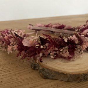 Haarkranz Trockenblumen LOVELY RED