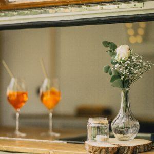Glasvase – Vase – Dekoaufbau