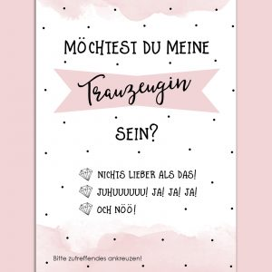 Postkarte Trauzeugin – Frage